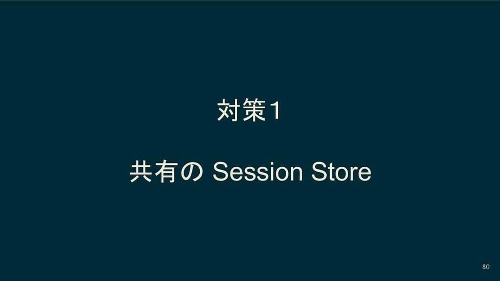 対策1 共有の Session Store 80