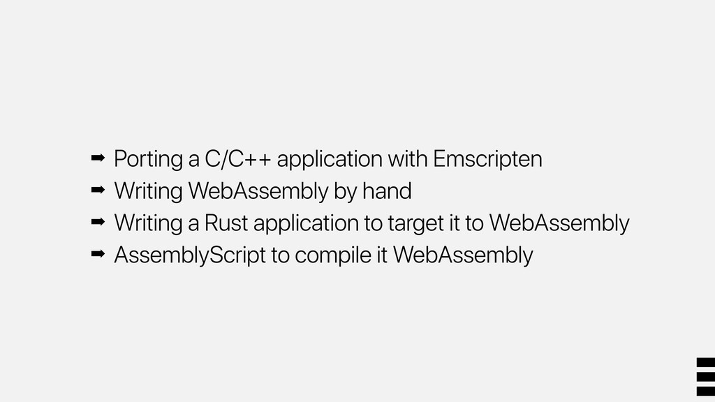 ➡ Porting a C/C++ application with Emscripten ➡...