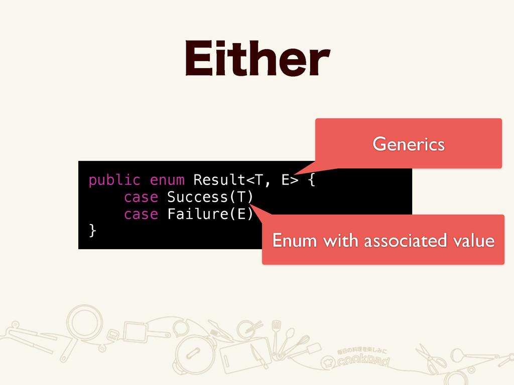 &JUIFS public enum Result<T, E> { case Success(...
