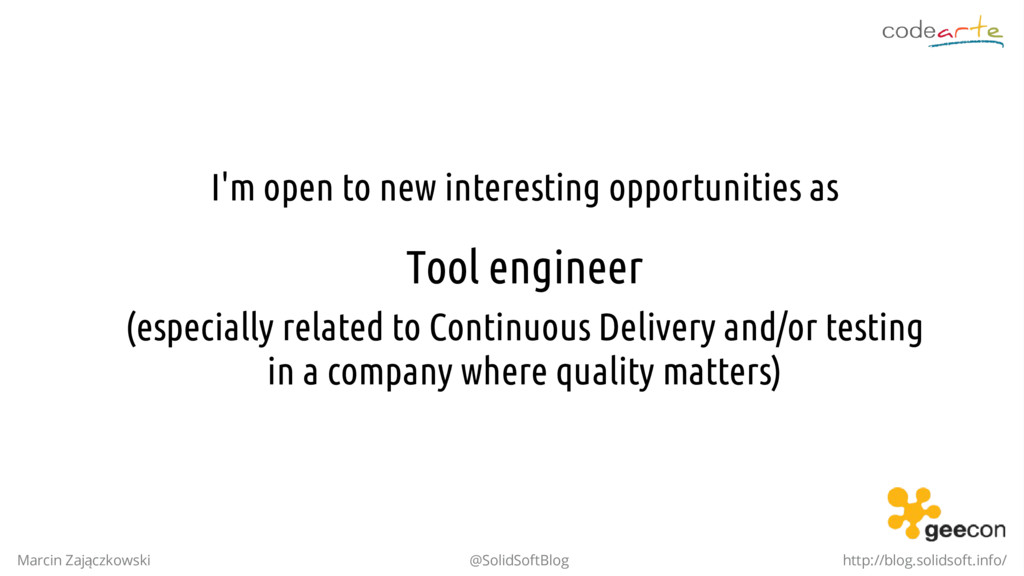 I'm open to new interesting opportunities as To...