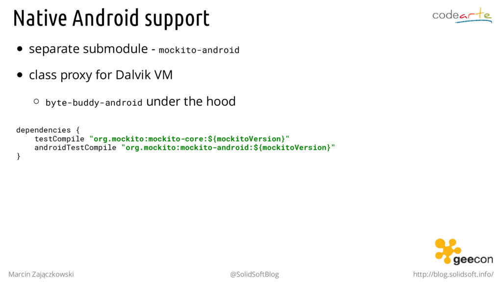 Native Android support separate submodule - moc...