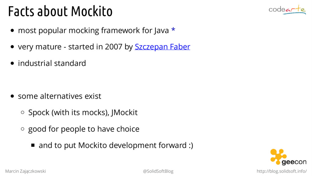 Facts about Mockito most popular mocking framew...