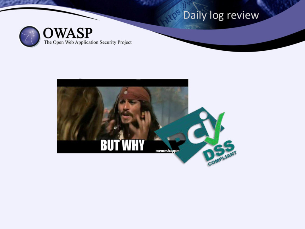 Daily log review