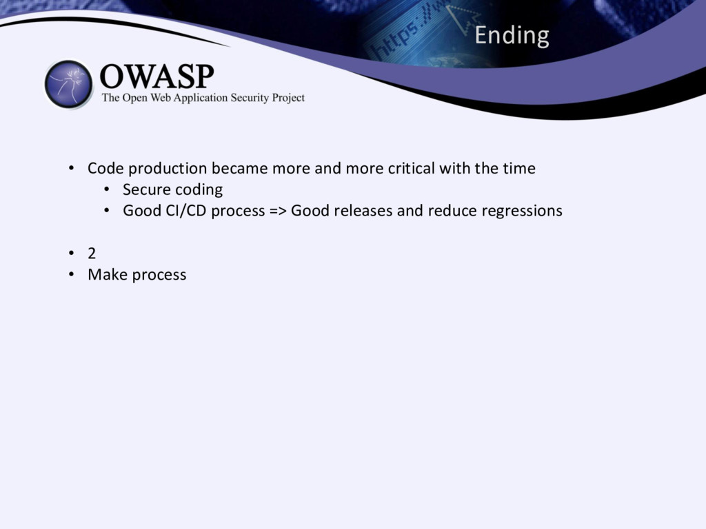 Ending • Code production became more and more c...