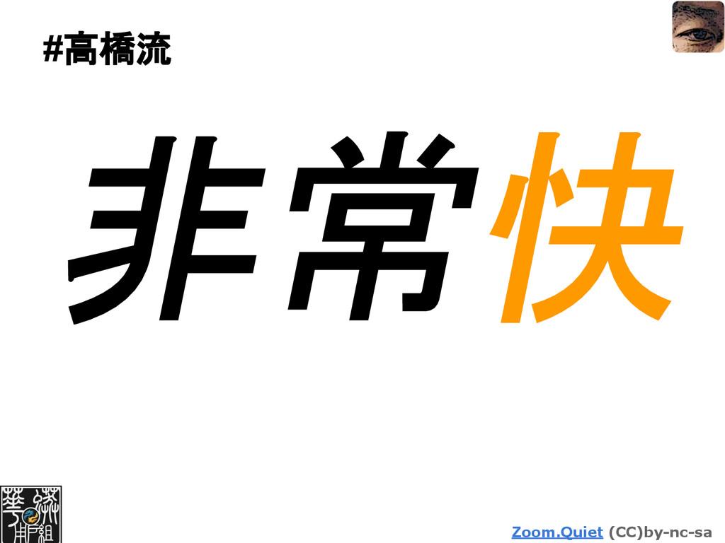 Zoom.Quiet (CC)by-nc-sa #高橋流 非常快