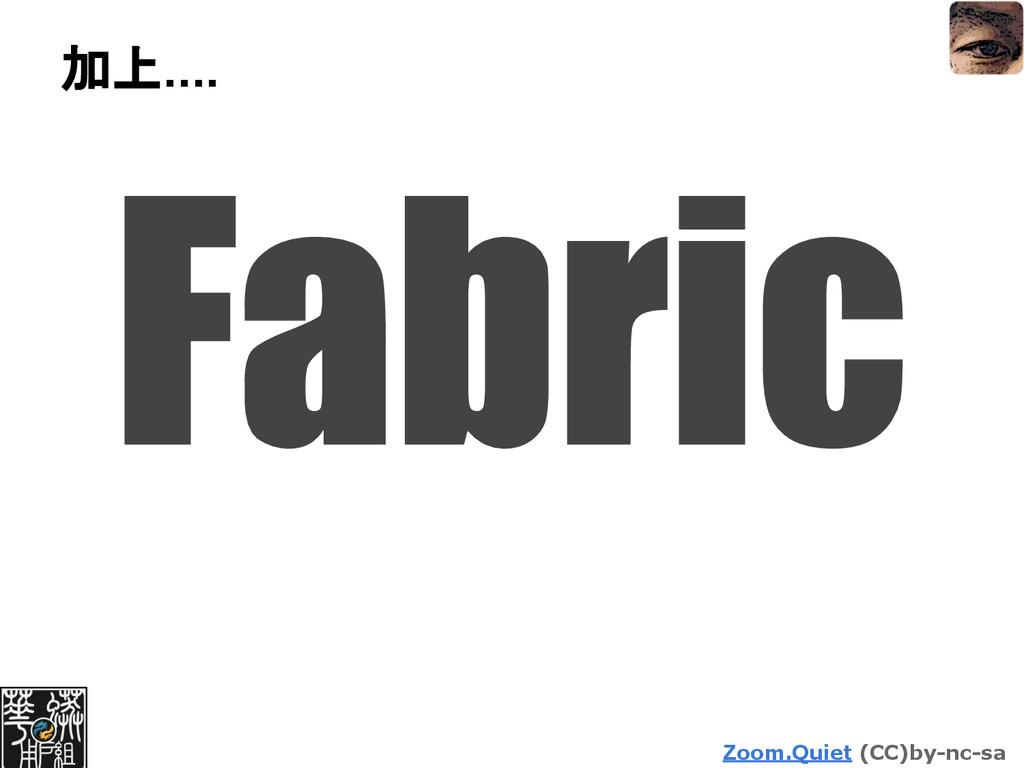 Zoom.Quiet (CC)by-nc-sa 加上.... Fabric