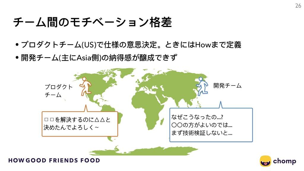 HOW GOOD FRIENDS FOOD チーム間のモチベーション格差 • プロダクトチーム...