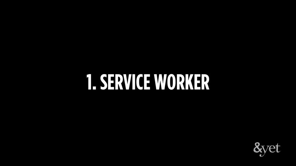 1. SERVICE WORKER