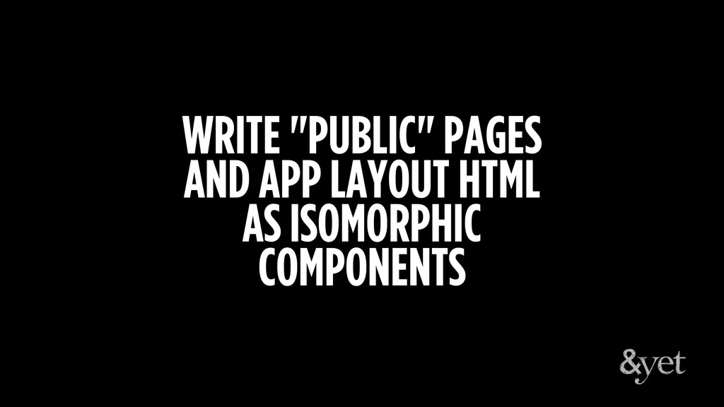 """WRITE """"PUBLIC"""" PAGES AND APP LAYOUT HTML AS ISO..."""