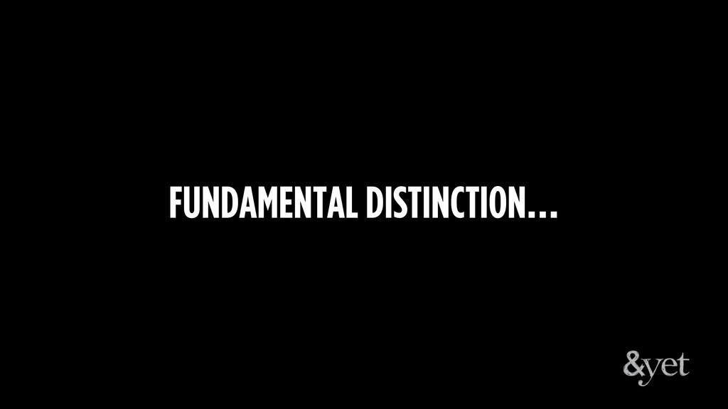 FUNDAMENTAL DISTINCTION…
