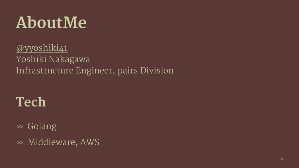 AboutMe @yyoshiki41 Yoshiki Nakagawa Infrastruc...
