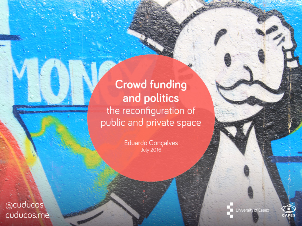 Crowd funding and politics the reconfiguration o...