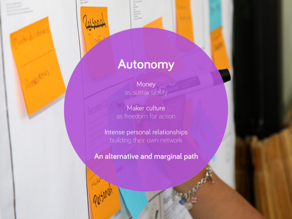 Autonomy Money as sustainability Maker culture ...