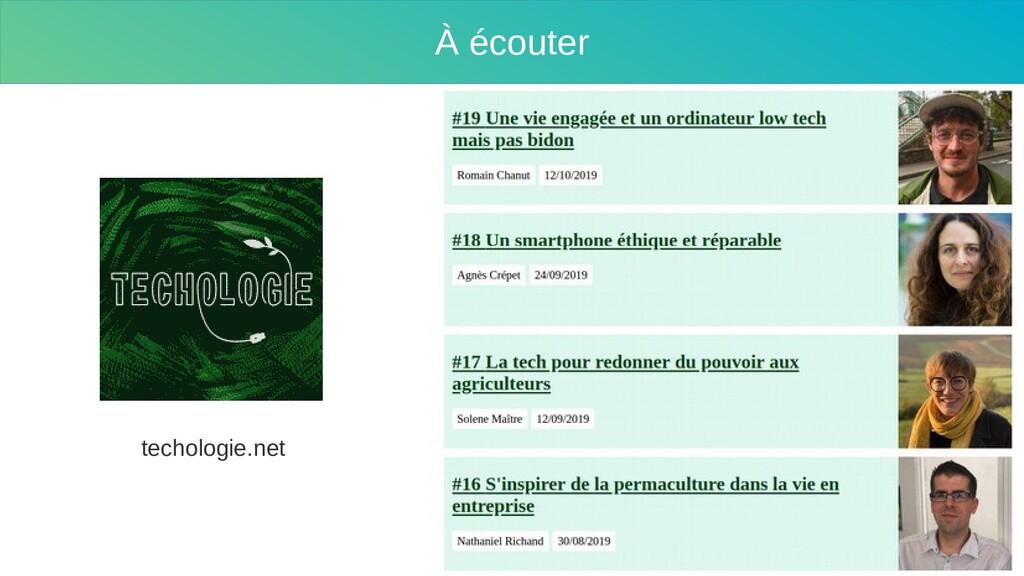 Sobriété À écouter techologie.net