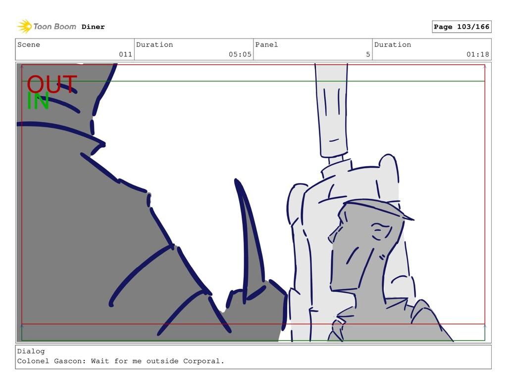 Scene 011 Duration 05:05 Panel 5 Duration 01:18...