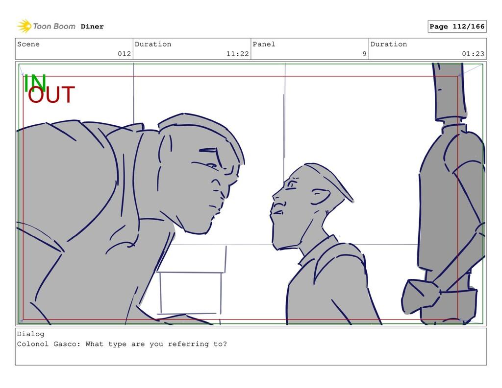 Scene 012 Duration 11:22 Panel 9 Duration 01:23...