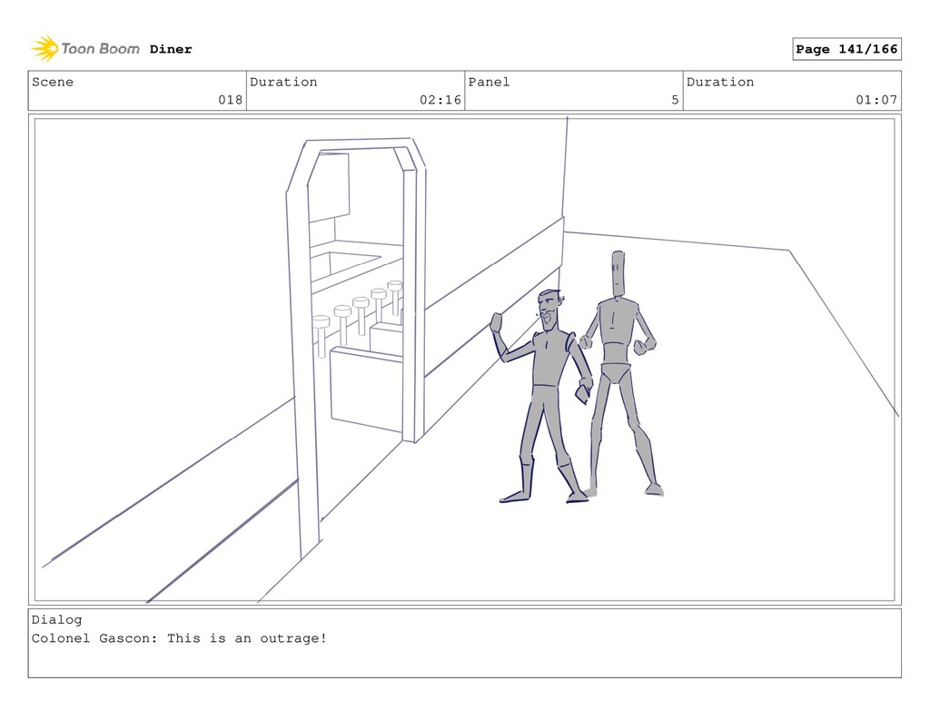 Scene 018 Duration 02:16 Panel 5 Duration 01:07...