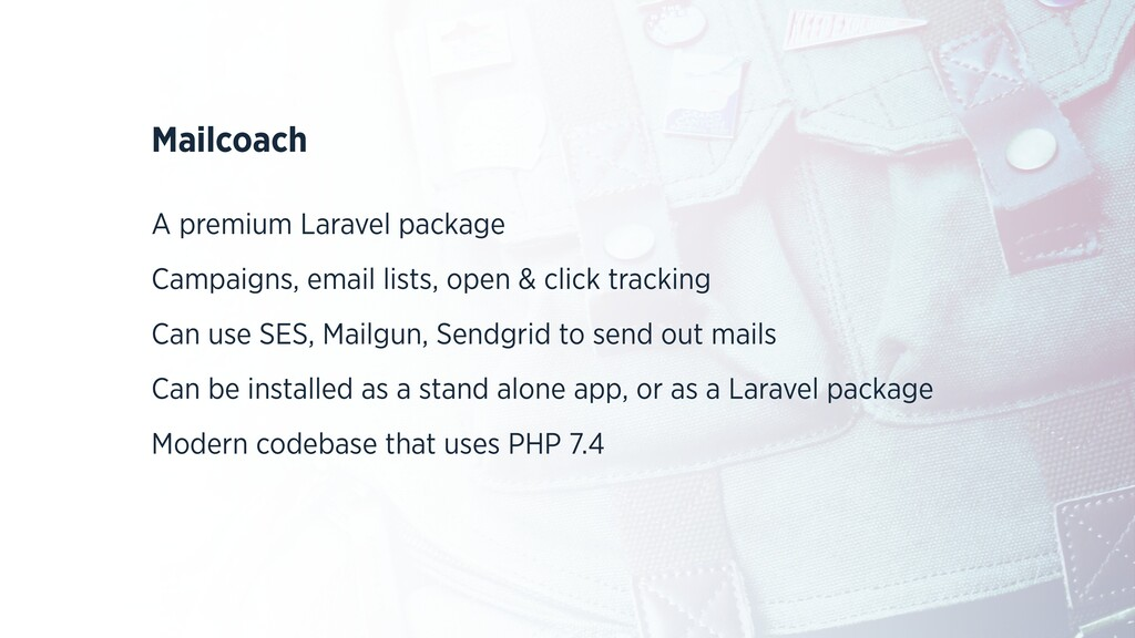 Mailcoach A premium Laravel package Campaigns, ...