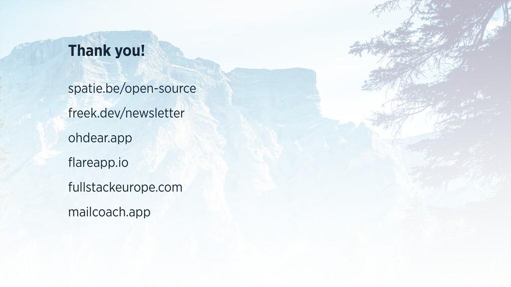 Thank you! spatie.be/open-source freek.dev/news...