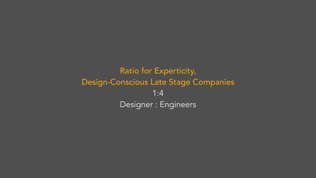 Ratio for Experticity, Design-Conscious Late St...