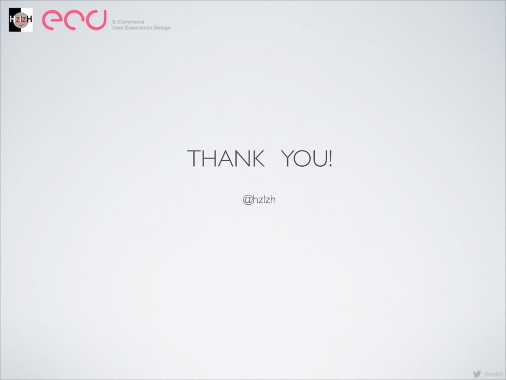 THANK YOU! @hzlzh