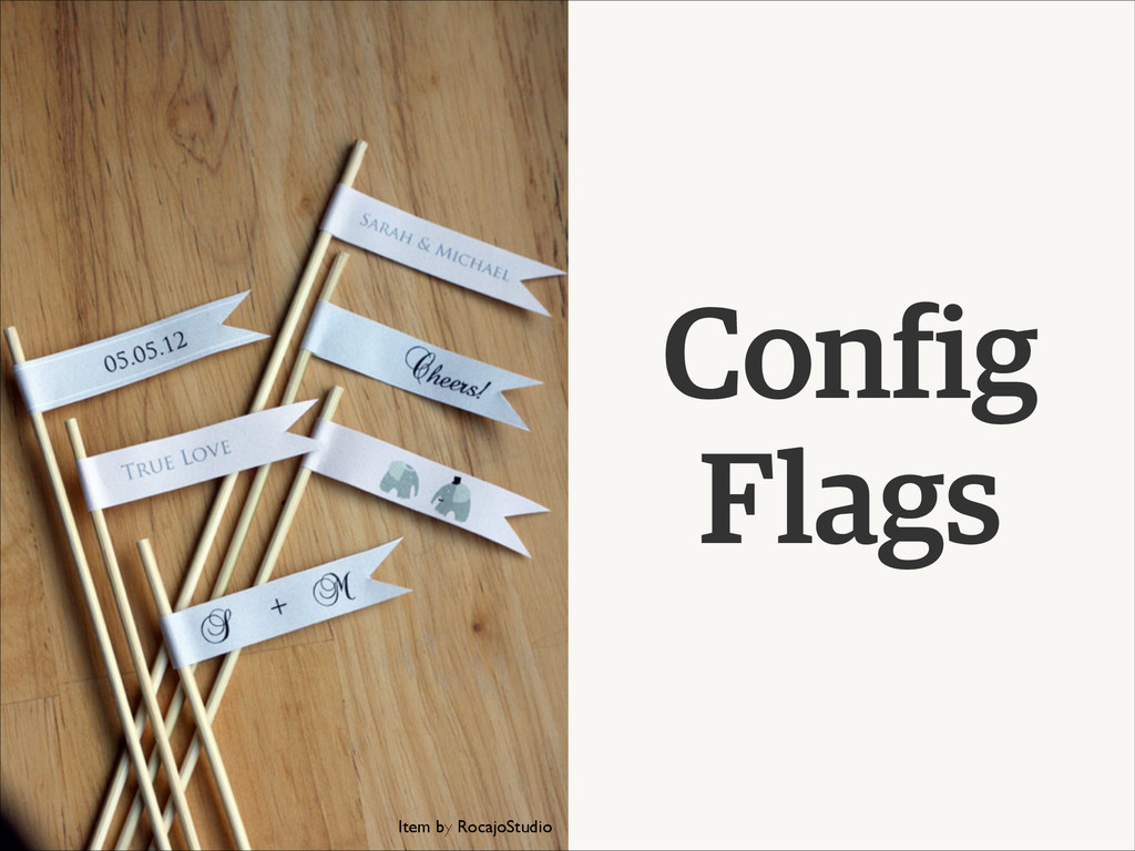 Config Flags Item by RocajoStudio