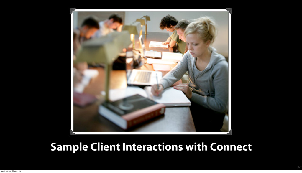Sample Client Interactions with Connect 17 Wedn...
