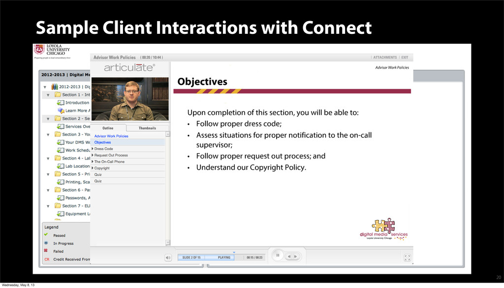 Sample Client Interactions with Connect 20 Wedn...