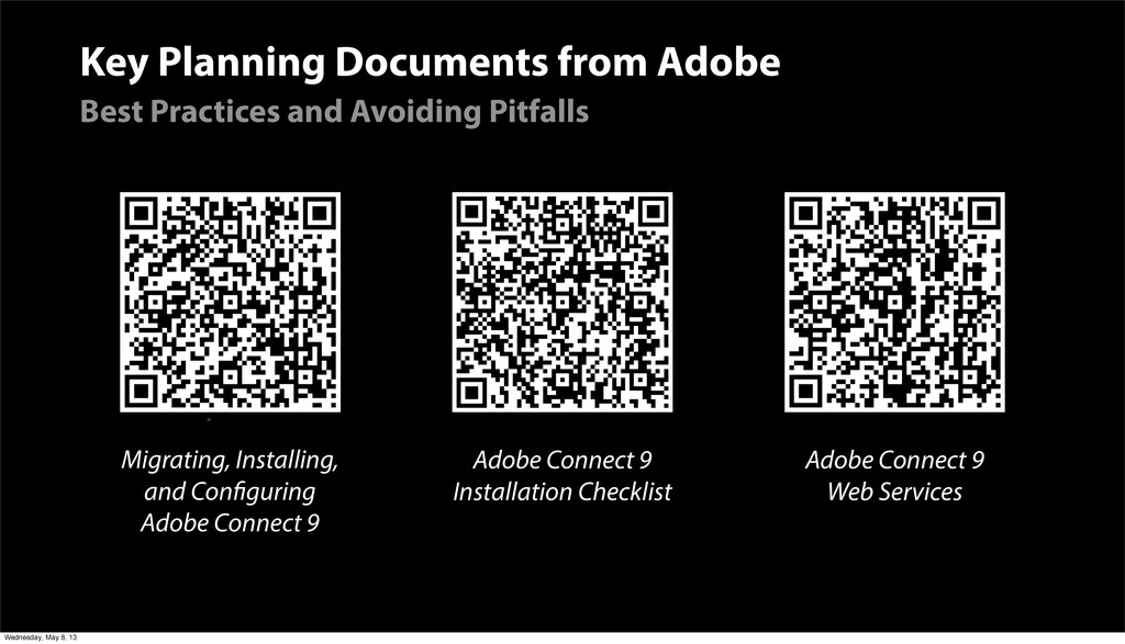 Key Planning Documents from Adobe Best Practice...