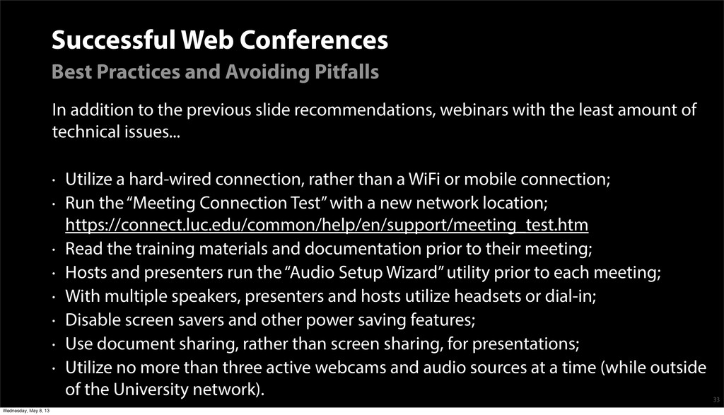 Successful Web Conferences Best Practices and A...