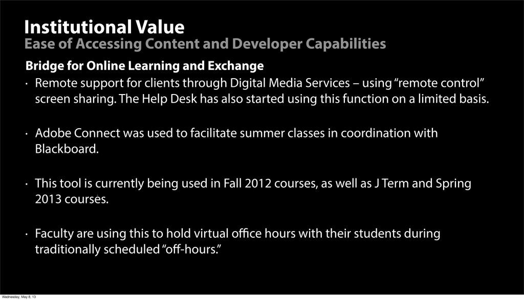 Institutional Value Bridge for Online Learning ...