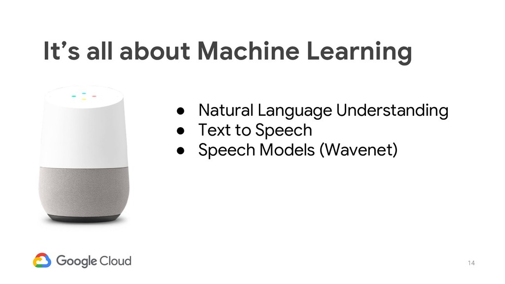 14 It's all about Machine Learning ● Natural La...