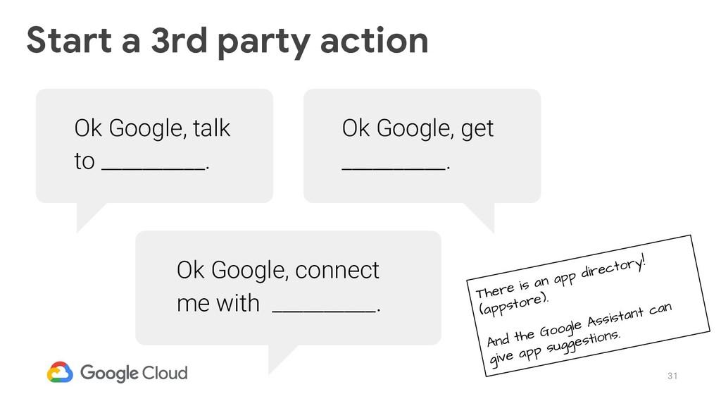 31 Ok Google, talk to __________. Ok Google, co...