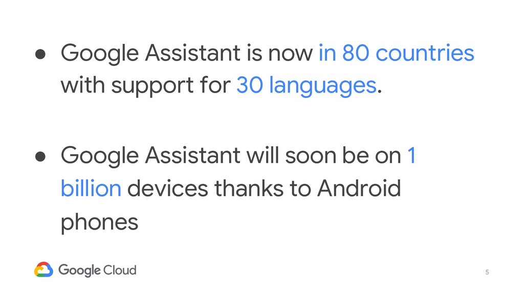 5 ● Google Assistant is now in 80 countries wit...