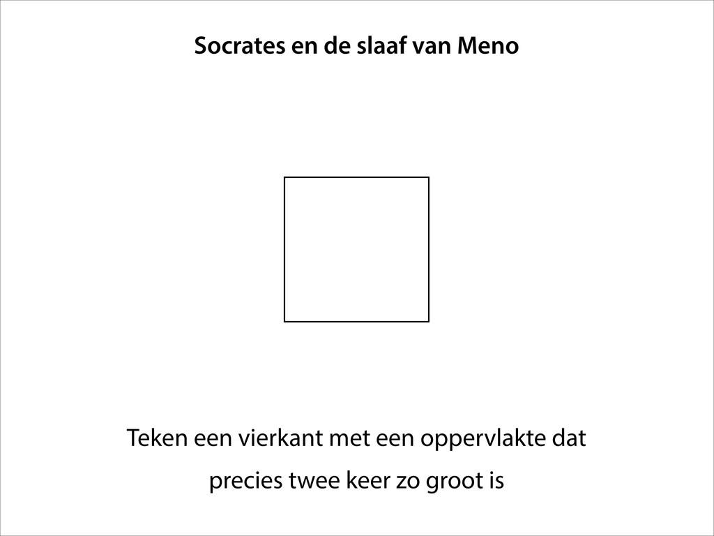 Teken een vierkant met een oppervlakte dat prec...
