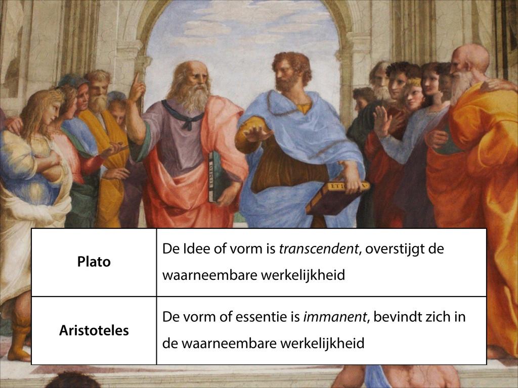 Plato De Idee of vorm is transcendent, overstij...