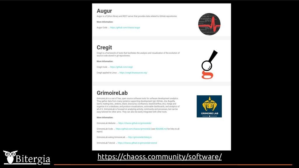 https://chaoss.community/software/