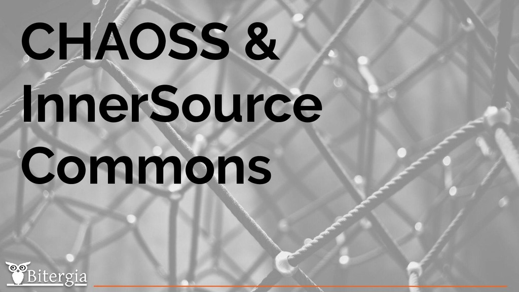 CHAOSS & InnerSource Commons
