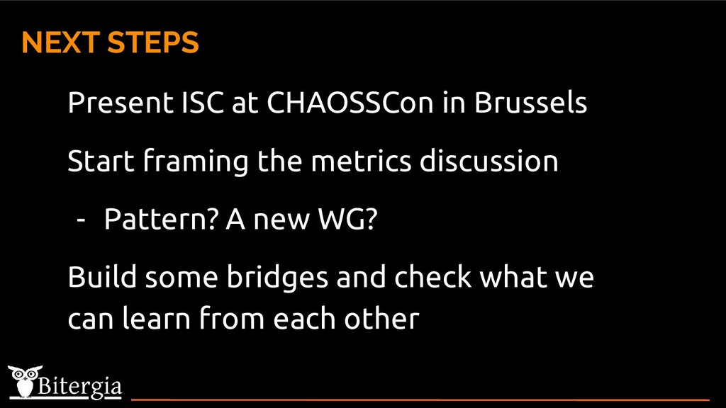 Present ISC at CHAOSSCon in Brussels Start fram...