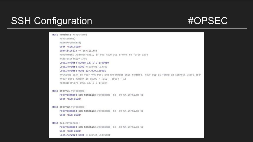 SSH Configuration #OPSEC