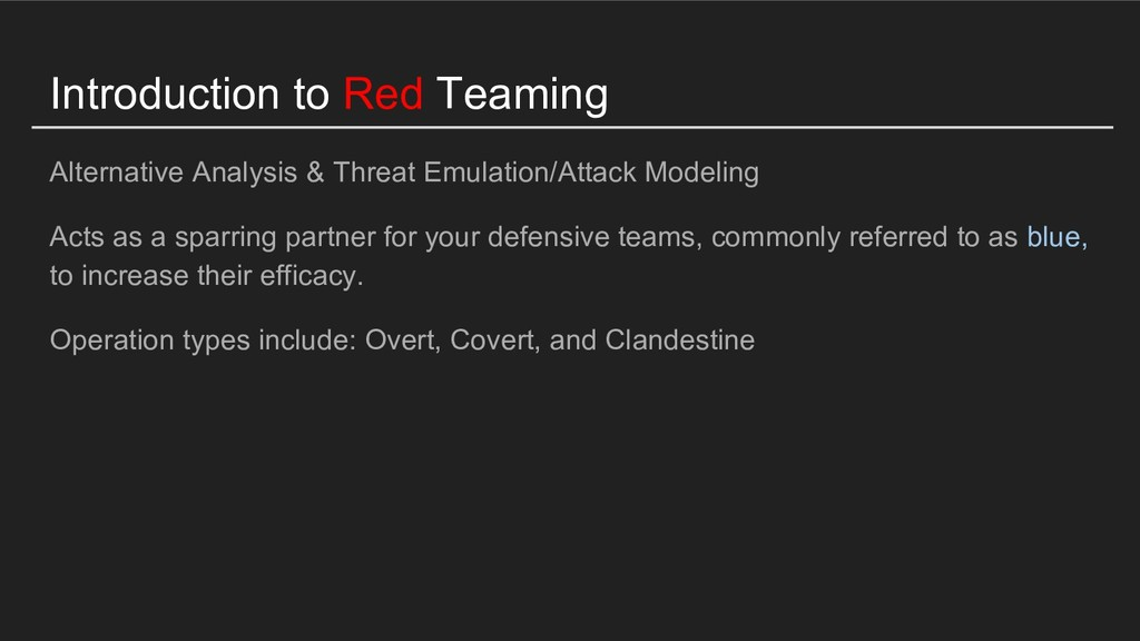 Introduction to Red Teaming Alternative Analysi...