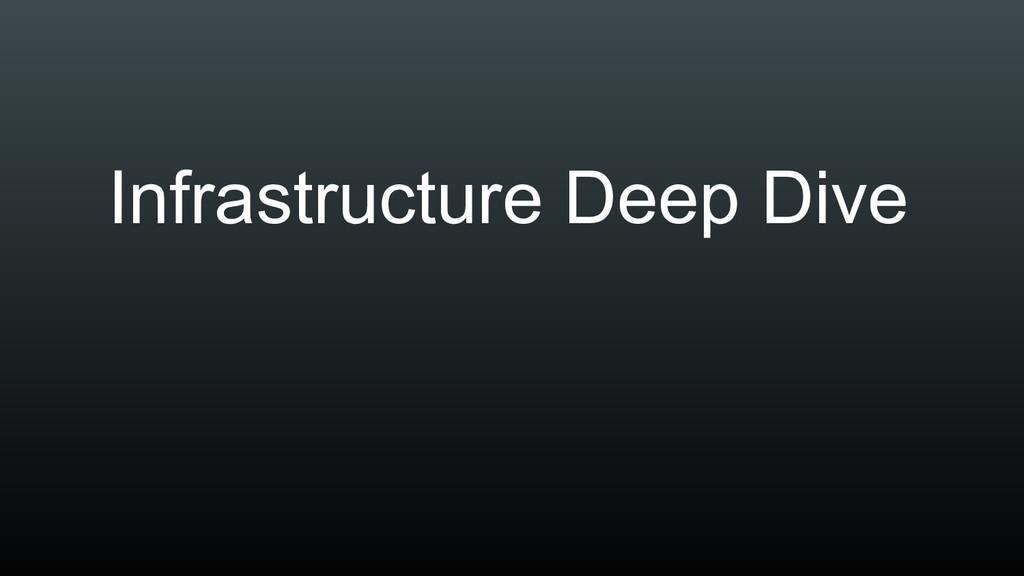 Infrastructure Deep Dive