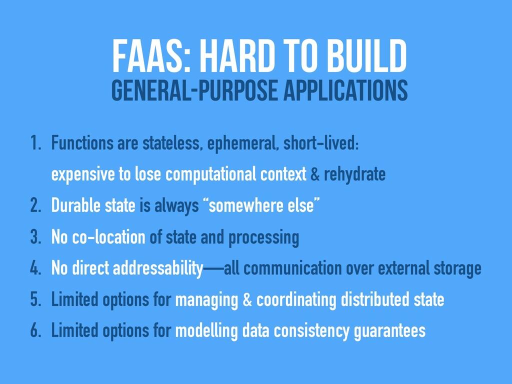 1. Functions are stateless, ephemeral, short-li...