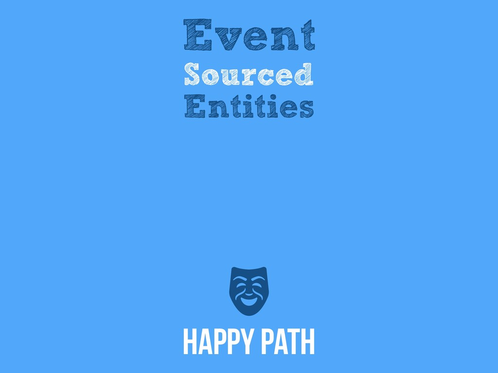 Event Sourced Entities Happy Path