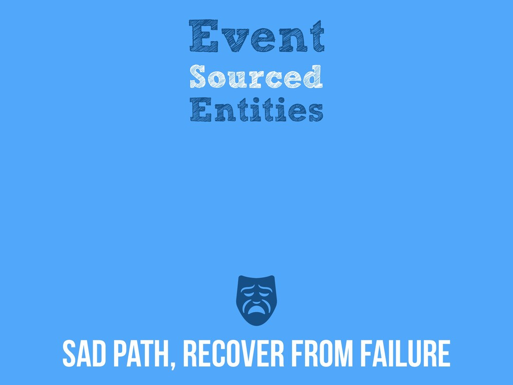 SAD Path, RECOVER FROM FAILURE Event Sourced En...