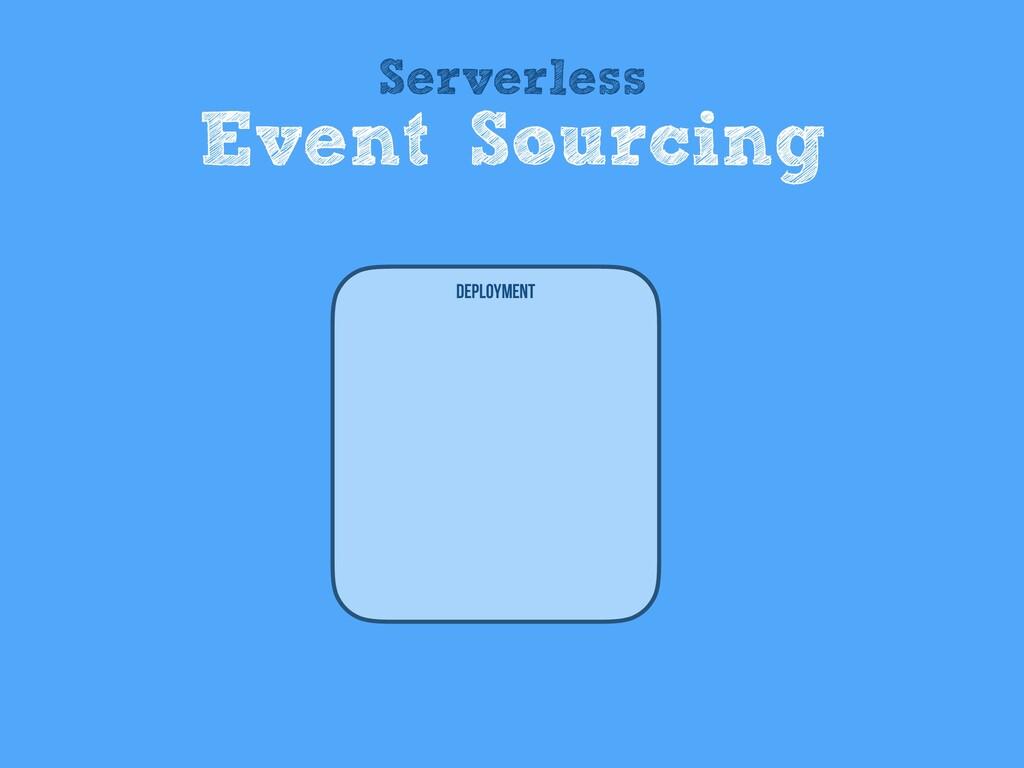 Deployment Serverless Event Sourcing