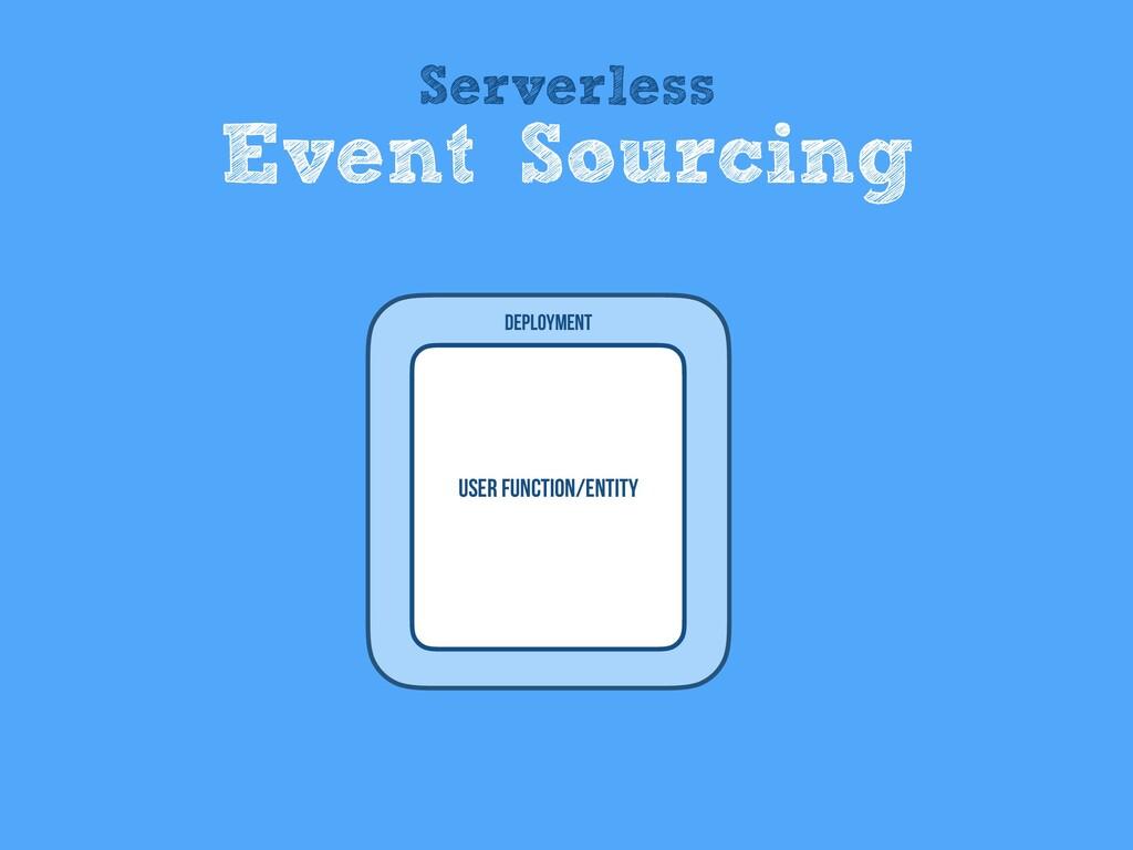 User Function/entity Deployment Serverless Even...