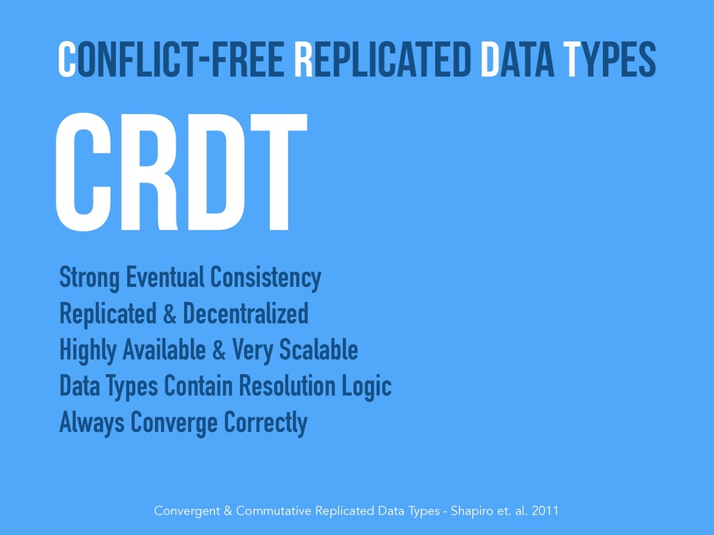 CRDT Strong Eventual Consistency Replicated & D...