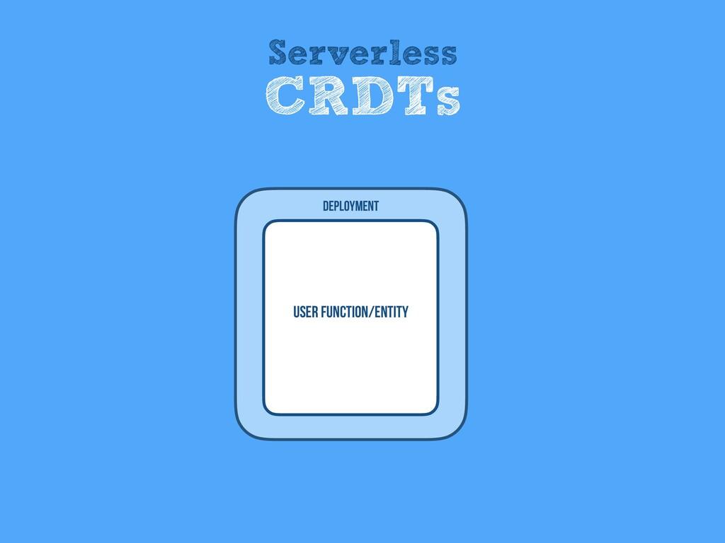 User Function/entity Deployment Serverless CRDTs