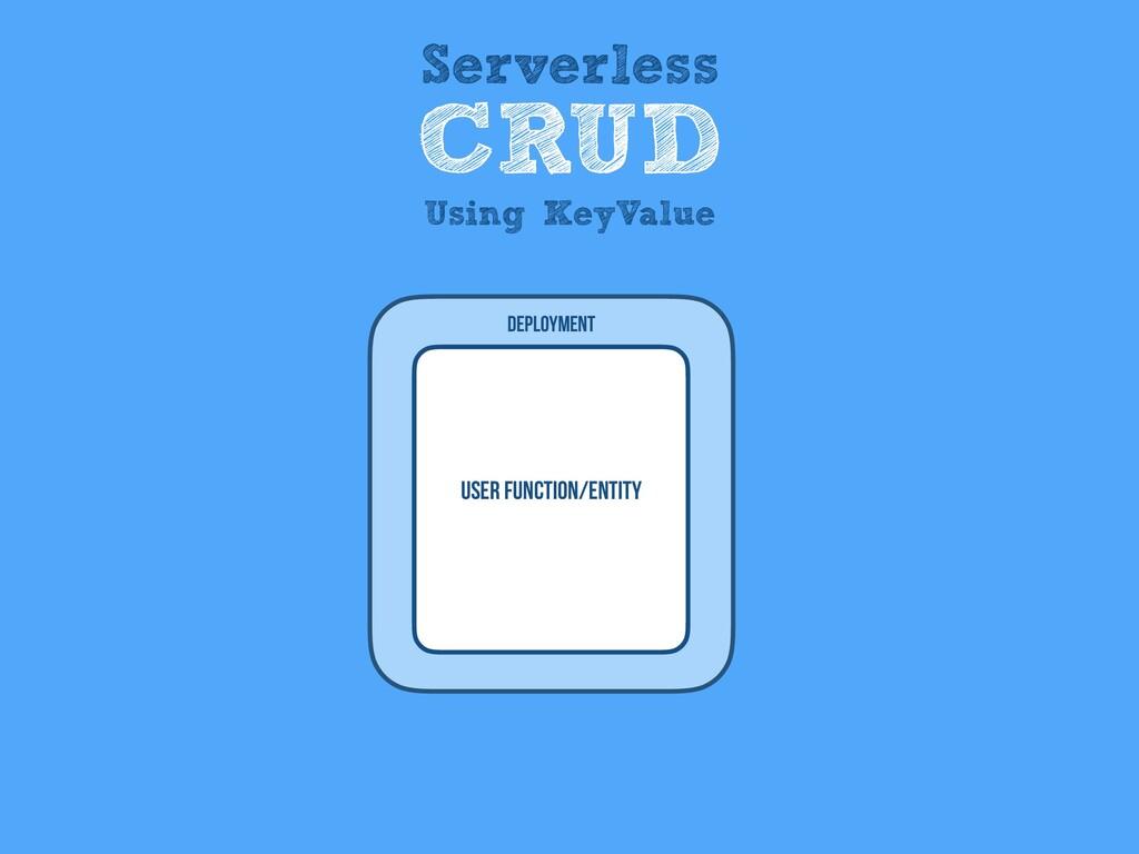 User Function/entity Deployment Serverless CRUD...